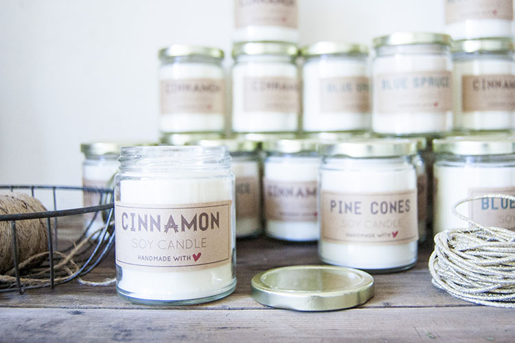 Homemade soy candles Photo: Going home to roost