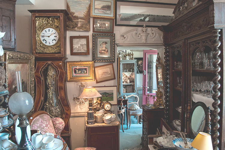 old antiques shop