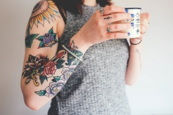 Girl with tattoos sleeve